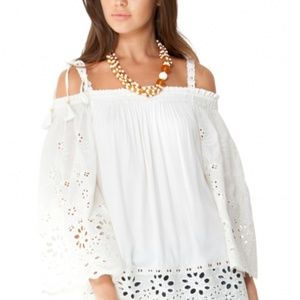 NEW. Hale Bob Luciana Eyelet Top